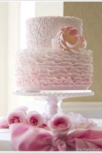 Pink Ombre' Ruffle Cake by The Pastry Studio: Daytona Beach, Fl, Pink and White Wedding Cake, Icing Ruffles on Wedding Cake Beautiful Wedding Cakes, Gorgeous Cakes, Pretty Cakes, Cute Cakes, Sweet Cakes, Cake Wedding, Amazing Cakes, Pink Ruffle Cake, Ruffles