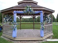 Wedding backdrop flowers gazebo ideas for 2019 Outdoor Wedding Altars, Gazebo Wedding Decorations, Wedding Pergola, Gazebo Ideas, Wedding Backdrops, Outdoor Weddings, Pergola Kits, Wedding Reception, Wedding Planning Binder