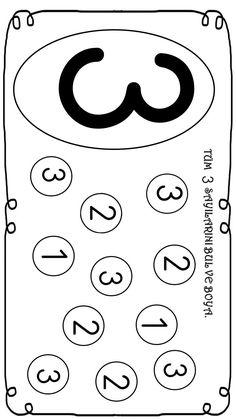 okul öncesi 3 sayısı farkındalık çalışması Worksheet For Nursery Class, Nursery Worksheets, Printable Preschool Worksheets, Preschool Writing, Numbers Preschool, Preschool Activities, Grade R Worksheets, Kindergarten Math Worksheets, Preschool Coloring Pages