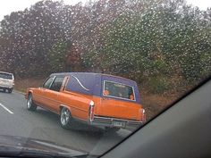 Orange Custom hearse