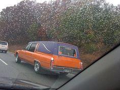 Orange Custom hearse