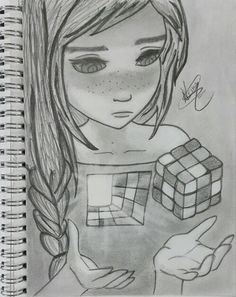 """I am complicated"" so how's it?! (^♡^)-Ayesha Siddiqa, Not my original sketch, re-drew it!"