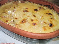 Krompir i pečurke u bešamel sosu   http://kuhinjazaposlenezene.blogspot