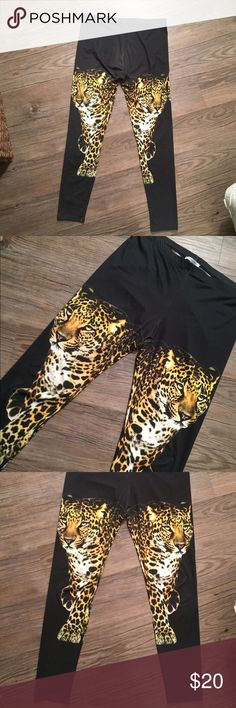 Charlotte Russe Cheetah Leggings These are by Charlotte Russe and are so cool! I only wore them one time. They have a nice stretch to them and can be dressed up or down. Make me an offer! ❤ Charlotte Russe Pants Leggings