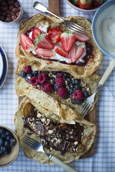 Pancakes Three Ways | DonalSkehan.com, What's better than pancakes? Three kinds of pancakes!
