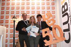 Matias Gravenhorst (Magrada) con Silvia Curti (EuBEA) con Silvio Camafreita (Grupo eventoplus)