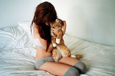 UNDERWEAR AND KITTENS #ihugmycatwithoutclotheson
