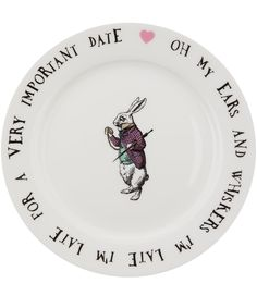 Mrs Moore White Mad Hatter Bone China Tea Plate | Home | Liberty.co.uk
