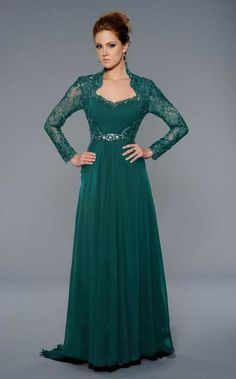 Lara Dresses - 32251 Long Sleeved Lace Queen Anne A-Line Gown – Couture Candy Long Sleeve Evening Dresses, Long Evening Gowns, Mother Of The Bride Dresses Long, Plus Size Gowns, A Line Gown, Dress Brands, Designer Dresses, Beautiful Dresses, Lace Dress