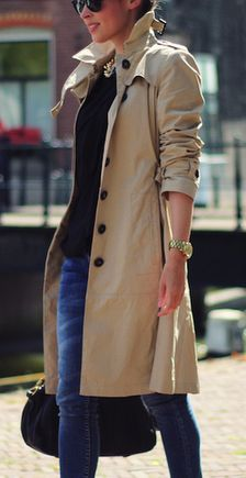 fall look   Classic Trench.