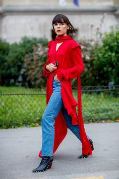 Red drape outfit  | For more style inspiration visit 40plusstyle.com