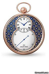 JAQUET DROZ [NEW][LTD] THE POCKET WATCH, PAILLONNEE J080033045 (Retail:CHF 45000) Special Price:HK$257,000