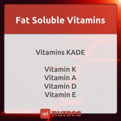 What ways have you come up with to remember the fat soluble vitamins? --- Visit…