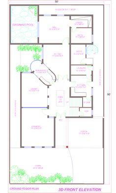 Swimming Pool Blueprints house plan with swimming pool | plans | pinterest | house