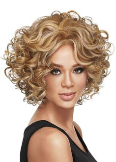 Medium length long curly wigs for black women afro african american celebrity wigs synthetic hair Rihanna's Hairstyle Curly Wigs, Short Curly Hair, Curly Hair Styles, Medium Hair Styles, Natural Hair Styles, Curly Afro, Afro Puff, Short Wavy, Wavy Hair