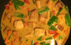 Laks i rød karry → Lækker asiatisk inspireret ret ← Karry, Thai Red Curry, Easy Meals, Ethnic Recipes, Diabetes, Quick Easy Meals, Easy Dinners, Quick Meals