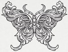 Engraved Butterfly | Urban Threads: Unique and Awesome Embroidery Designs
