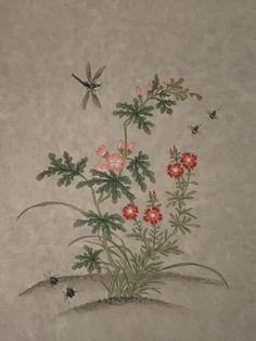 [아륜화실]신사임당 초충도__민화/전통채색화/분당미술/분당화실/분당민화 : 네이버 블로그 Korean Art, Leaf Tattoos, Illustration Art, Gallery, Drawings, Flowers, Plants, Home Decor, Asian