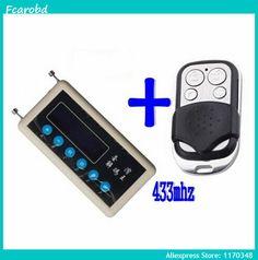 Fcarobd remote code key scanner copier 433mhz remote code receiver decoder + 433mhz cloning remote radio transmitter A002