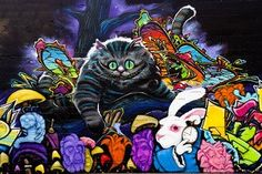 Amazon.com: Alice In Wonderland Graffiti III - CANVAS OR PRINT WALL ART: Home & Kitchen