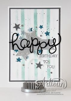 Stampin Up Expressions Thinlit, Happy Birthday Card Card Making Inspiration, Making Ideas, Star Cards, Beautiful Handmade Cards, Winter Cards, Card Sketches, Happy Birthday Cards, Masculine Cards, Card Tags