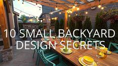 Small Backyard Design, Backyard Garden Design, Backyard Designs, Backyard Hill Landscaping, Backyard Patio, Covered Patio Design, Outdoor Projects, Outdoor Ideas, Outdoor Fun
