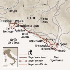 Circuit carte Italie : Sur les sentiers côtiers des Cinque Terre et de Portofino