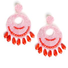 Pink Fully Beaded Earrings