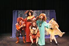The Elementals: Puck (Mike Holland), Oberon (Nat Fried), Bottom (Brandon Crone), Titania (Nicolette Pearse), Mustardseed (Alysa King).