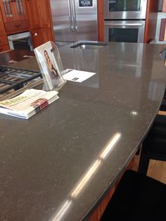 We might choose this for the counter tops!!! Piatra Grey Quartz countertop from Caesarstone!