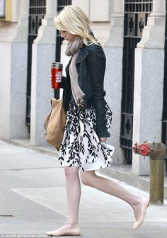 East side princess: Emma Stone stepped out on New York's famed Park Avenue in Tuesday