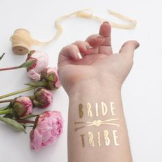 Gold Bride Tribe Tattoo Metallic Tattoo Gold by KristenMcGillivray