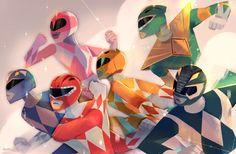 my piece for the Power Rangers Tribute Show / Power Rangers # 0 Comic Launch hosted by Gallery Nucleus this January 16-31, 2016! Details HERE