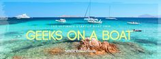 Geeks On A Boat is an adventure anyone can join, and a perfect opportunity to combine business with pleasure and build lasting relationships within the international tech scene.The fleet will cruise around idyllic beaches in the day and visit great party islands at night!