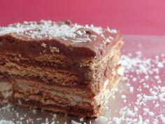 Tarta de galletas con chocolate -- Ideal para cumpleaños infantiles -- V...