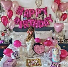 Ballon Banner, Happy Birthday Balloon Banner, Birthday Bunting, Birthday Goals, 24th Birthday, Birthday Woman, Birthday Wishes, Birthday Ideas, Gifts