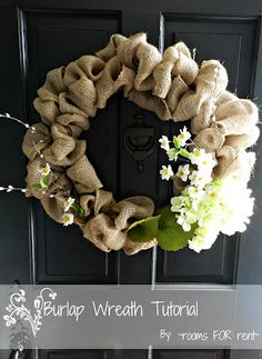 ~rooms FOR rent~: {Spring Burlap Wreath}
