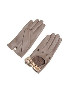 Leather #Gloves with studded detailing by #valentino $425