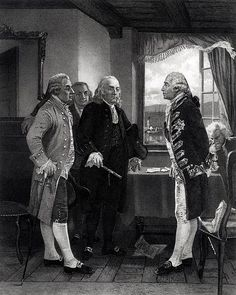 John Adams at left in Chappel's depiction of Staten Island Peace Conference American Independence, American Presidents, Declaration Of Independence, Us Presidents, American History, Curriculum, John Adams, American Revolutionary War, Benjamin Franklin