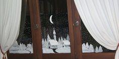 Plus de 1000 id es propos de deco fen tre no l sur - Peindre sur une vitre ...