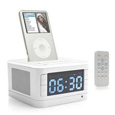 3 in 1 Portable Speaker Alarm Clock Radio Docking Station Charging for iPod Mp3 #ipoddockingspeaker