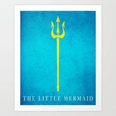 The Little Mermaid Art Print by j-bott - $17.00