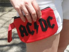 Carteira ACDC - Red and Black!