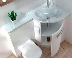 Как разместить в небольшом санузле сразу несколько предметов сантехники, системы хранения и при этом сэкономить площадь? Какой унитаз выбрать для маленького туалета? Оказывается, дизайнеры не стоят на месте и придумывают для небольших помещений немало интересных решений.