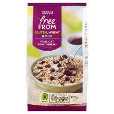 Tesco Free From Pure Oat Fruit Muesli 450G