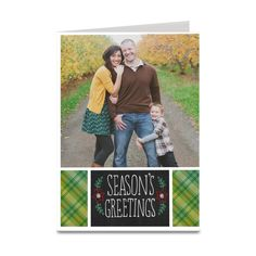 personalized holiday card.