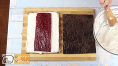 JOGHURTSCHNITTE RECEPT VIDEÓVAL - Joghurtschnitte készítése Butcher Block Cutting Board, Recipes, Food Recipes, Rezepte, Recipe, Cooking Recipes