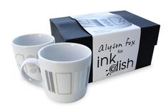 White Noise by Alyson Fox for Ink Dish 2 Mug Gift set