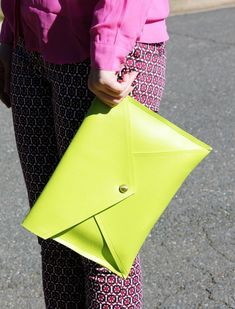 This no-sew envelope clutch is so easy to make | http://www.hercampus.com/style/make-no-sew-clutch-weekend