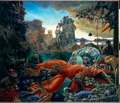 Max Ernst, The Temptation of St Anthony Fine Art Reproduction Oil Painting Jackson Pollock, Man Ray, Temptation Of St Anthony, Religion, Historia Natural, Art Database, Oil Painting Reproductions, Military History, Middle Ages